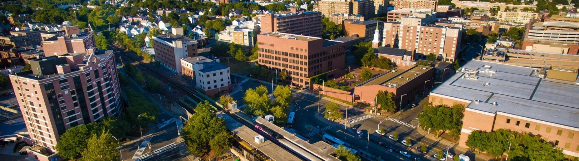 View Downtown Malden (Pre-demolition of Government Center and Police Station)