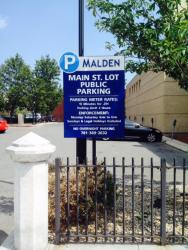 Main Street Parking Lot Sign