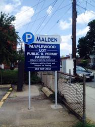 Maplewood Square Parking Lot Sign